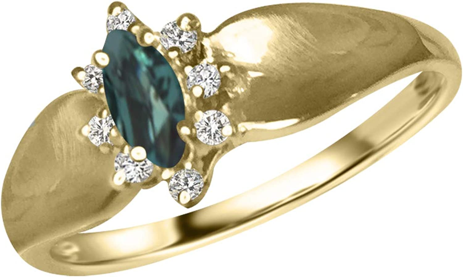 Designed by Ellen Natural Import Alexandrite 5% OFF in Yellow Ring 18K Diamond