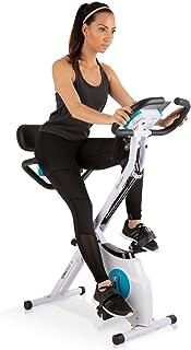 Klarfit Azura Plus - Cyclette 3 in 1 per fitness, allenamento cardio, con cinghia, pulsimetro, 8 livelli di resistenza mag...
