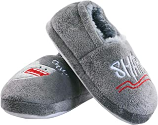 Image of Grey Shark House Shoes for Boys and Toddlers