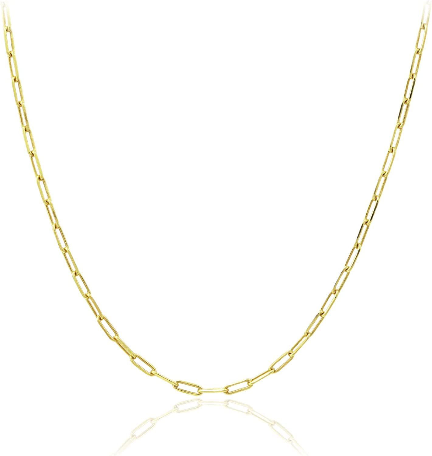 Michael Zweig 925 Sterling Silver 通販 訳あり Paper Necklac Link Italy Chain