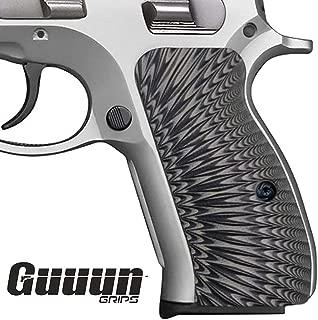Guuun G10 CZ 75 Compact Grips Sunburst Texture fit CZ P-01, CZ 75 D PCR Compact