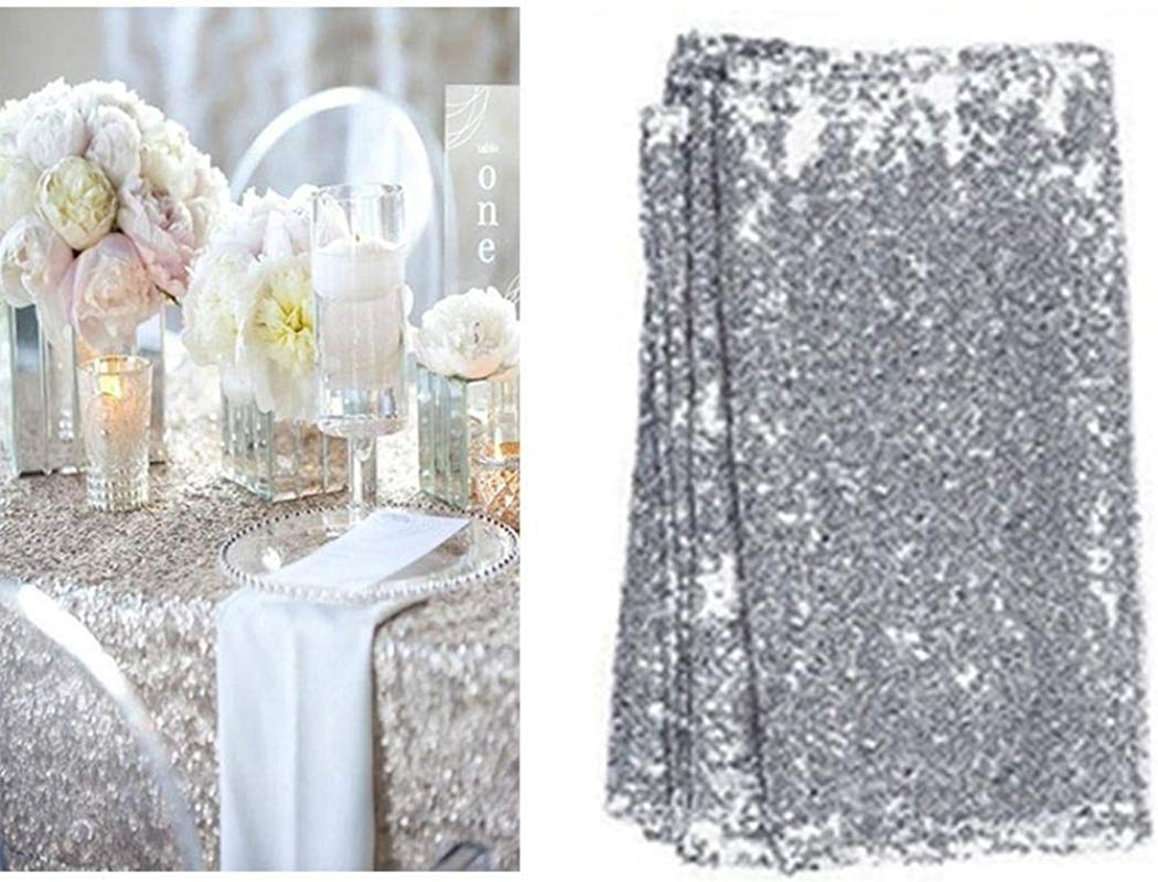 Corgy Wedding Table Cloth Glitter Sequin Tablecloth Party Engagement Decoration Tablecloths