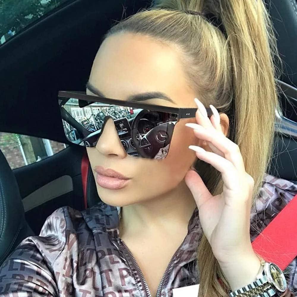 Square Glasses for Women Men Cycling Sunglass Black Frame Gradient Lens