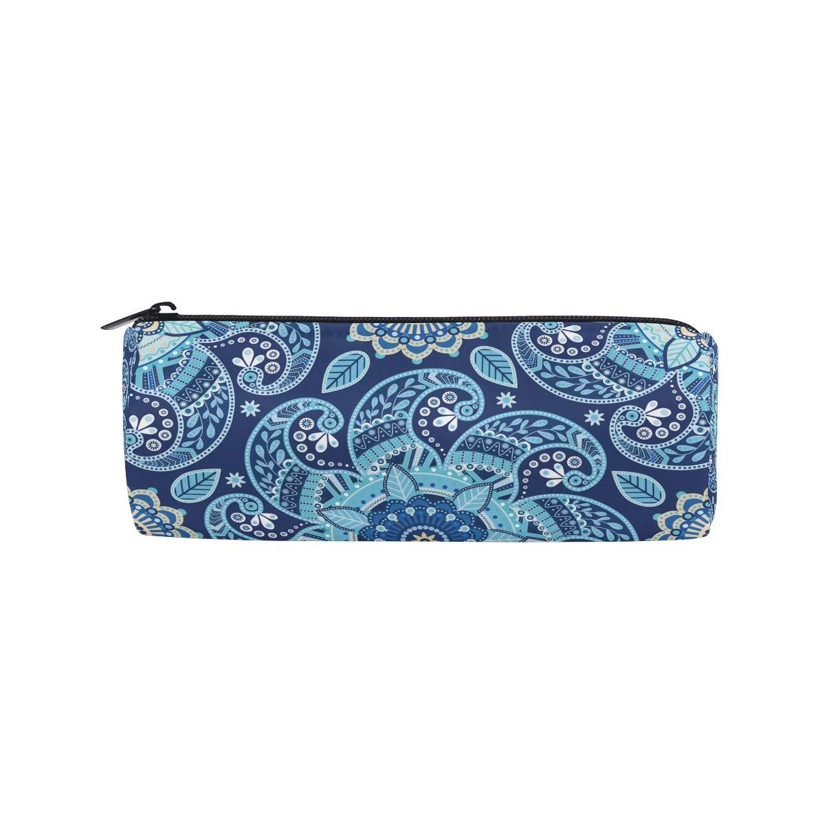 BONIPE - Estuche para lápices, diseño de bohemio étnico vintage con estampado floral: Amazon.es: Oficina y papelería