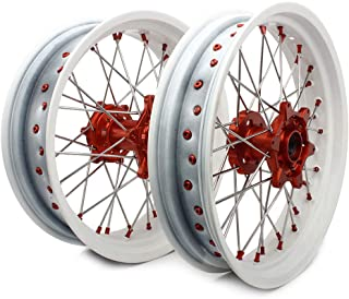 TARAZON 17 x 3.5,17 x 5.0, Supermoto Wheels Rims Set for KTM SX EXC XC SXS 125-540 2 strokes /4 strokes 2003-2019