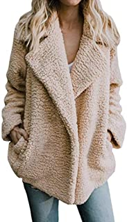 Pgojuni Winter Women's Casual Jacket Warm Parka Outwear Plush Ladies Coat Overcoat Outercoat Cardigan