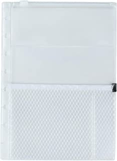 Eagle Discbound Plastic Multifunctional Zipper Bag, 8 Hole Punched Junior-Size, for Holding Small Items, Pens, Cellphone or Notes, Suitable for Discbound Planners or Notebooks, 2-Pack