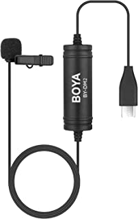 BOYA DM2 Digital Lavalier Microphone with Type-C Connector for Android Phones, YouTube, Interview, Podcast, Speech, Confer...