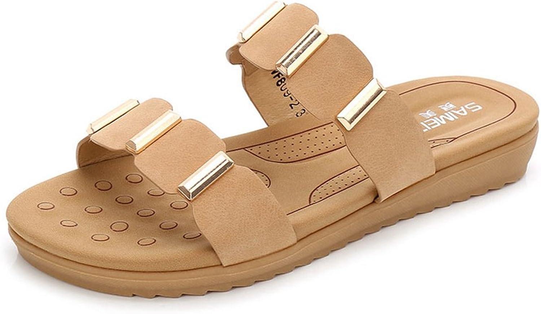 GIY Womens Square Slide Sandals Summer Comfort Open Toe Slip-on Platform Sandal Wedge Slipper