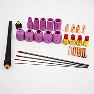 B.W.P 33PK WP9 Consumables Kit Collet Cup Tungsten Cap WT20 0.040