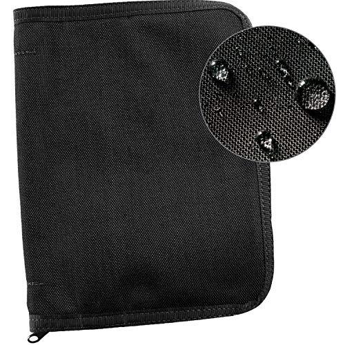 Rite In The Rain Weatherproof Cordura® Fabric, 1/2' Ring Binder Cover, 6.75' x 8.875', Black Cover (No. C9200B)