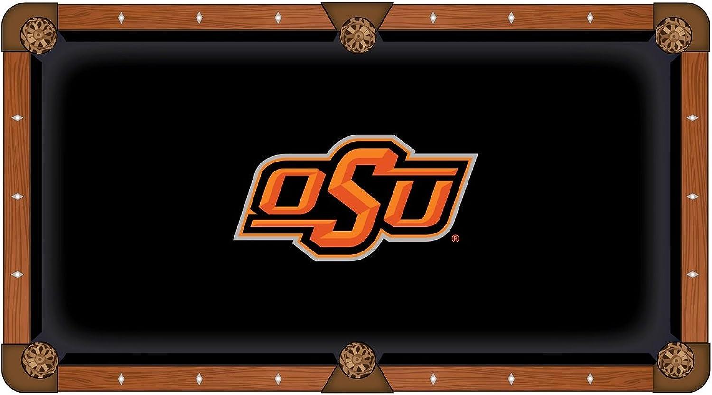 Oklahoma State Cowboys Black with orange Logo Billiard Pool Table Cloth