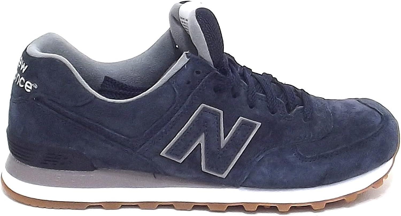 New Balance Uomo, ML 574, Sneakers camoscio Blu Nr 46 A6102 ...