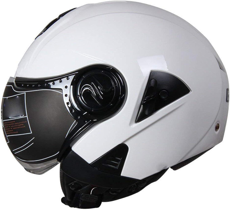 Motorcycle Helmet Motorcycle Helmet Electric Car Harley Double Lens Half Helmet Unisex Safety Helmet Road Helmet