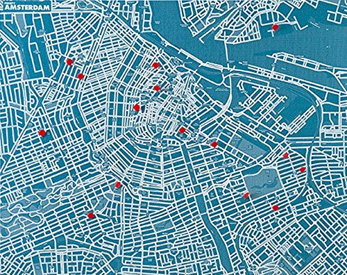Pin City - Amsterdam - Light Blue: De coole vlieskaarten voor reis-belevenissen