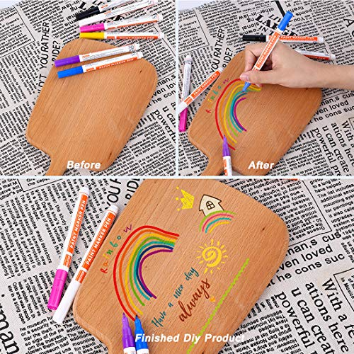 Acrylic Paint Pens for Rock Painting, 24 Vibrant Colors Paint Markers Kit for Glass, Stone, Wood, Fabric, Metal, Ceramic, Rock & More, Extra Fine Tip, Water Based, Quick-Dry, Great To Craft Making Photo #7