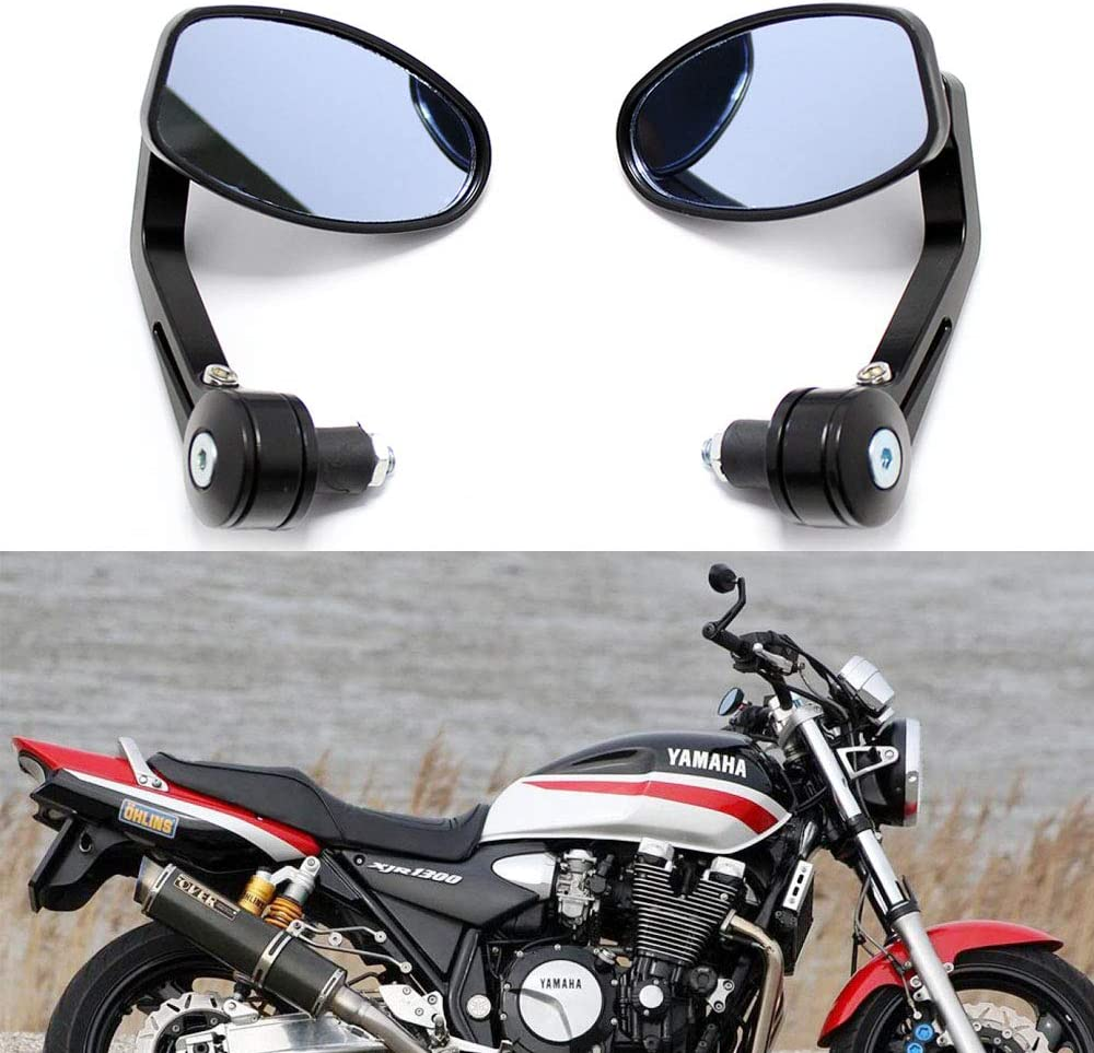 Universal Black Motorcycle 7 8 Cheap bargain Handle for C Max 88% OFF Bar Mirrors Side End