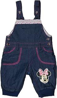 Minnie Mouse Latzhose-Set Strampler-Set f/ür M/ädchen Disney Baby in Gr/ö/ße 56 62 68 74 80 86 Baumwolle Rot mit Body und mitwachsende Baby-Harem-Hose