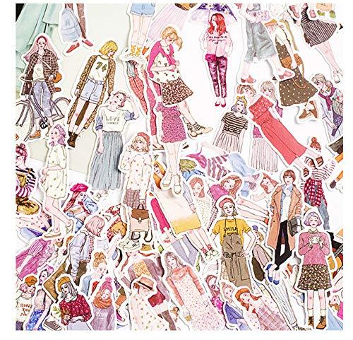100 Stks/Pak Mooie Meisjes Stickers Scrapbooking Handboek Waterdichte Mode Meisje Sticker Voor Laptop Kinderen Kinderen Notebook