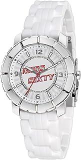 Miss Sixty - SIJ004 - Montre Femme - Quartz Analogique - Bracelet Silicone Blanc