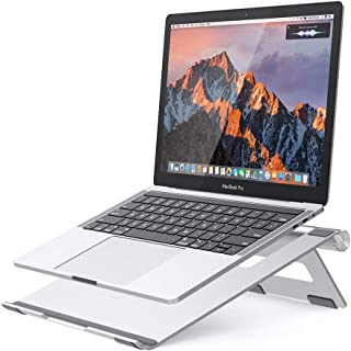 "Nulaxy Portable Laptop Stand, Aluminum Cooling Stand with Heat-Vent, Adjustable Laptop Holder Riser for MacBook, Pro, Air, Samsung, Dell and More 10-17.3"" Notebook - Silver"