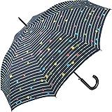 Regenschirm Bikini Dots & Stripes Navy Blau - Stockschirm Automatik