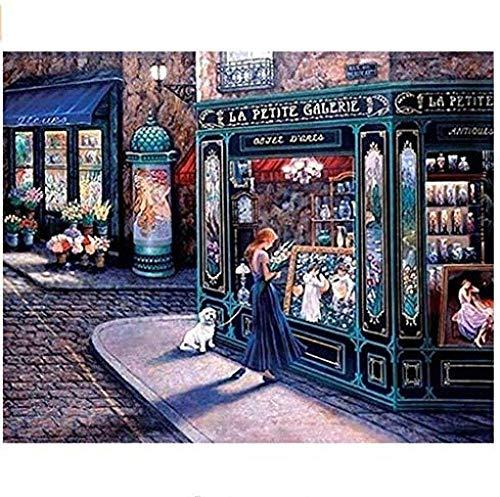 MEEKIS Malen nach Zahlen DIY Leinwand Gemälde für Erwachsene und Kinder La Petit Galerie 40X50CM-No Frame