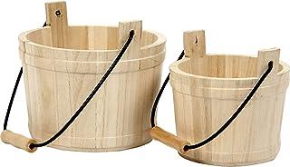 Cubo de madera, medidas 14x11 cm, medidas 16x17 cm, árbol del té, 2ud