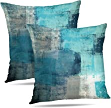 grey and turquoise pillows