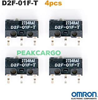Qty 2 OMRON D2F-01F-T Micro Switch Microswitch for RAZER Logitech APPLE Mouse [並行輸入品]