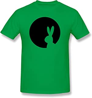 HD-Print Men's T-Shirt Moon Rabbit Red