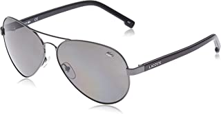 Lacoste Aviator Petit Pique Gunmetal Sunglasses For Men 62-13-140mm