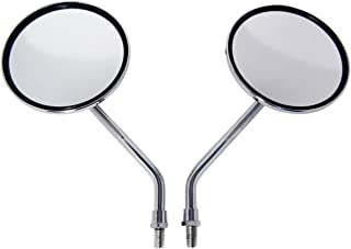 Chrome Billet Round Motorcycle Mirrors for Honda CRF 250X, CRF 450