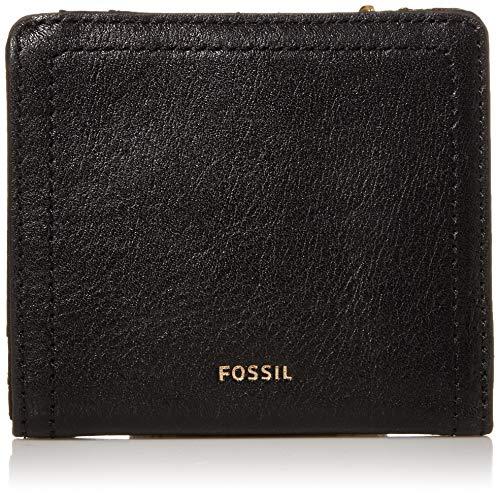 Fossil Women's Logan Faux Leather RFID Blocking Small Bifold Wallet, Black