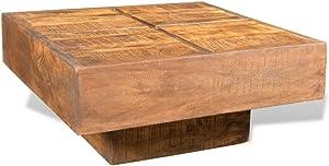 vidaXL Tavolino da caffè in Legno di Mango Quadrato Marrone Tavolo Salotto