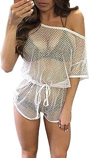 Ladies Bikini Crochet Cover Up Fishnet Sarong Wrap Tip Beach Feast Clothing Cover Up Handmade Swimwear Bikini Swimwear Dre...