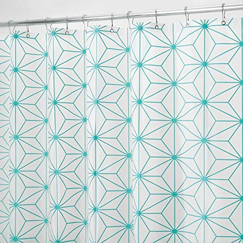 mDesign Geometric Waterproof PEVA Shower Curtain - 72' x...