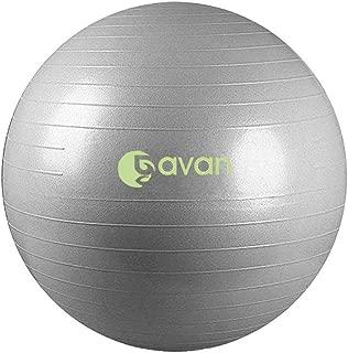 GAVAN 65cm Exercise Ball,  for Fitness,  Stability,  Balance & Yoga - 2000LBS Anti Burst Professional Quality Design,  4 Color,  L