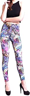 Women Patterned Rock Style Cropped Leggings Milk Silk Pants