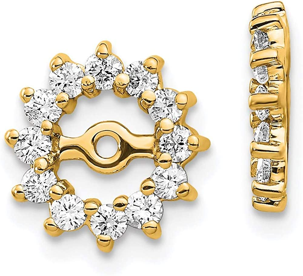 14k Fancy Diamond Earring Jacket Mountings 10mm 10mm style EJM5323-050-Y