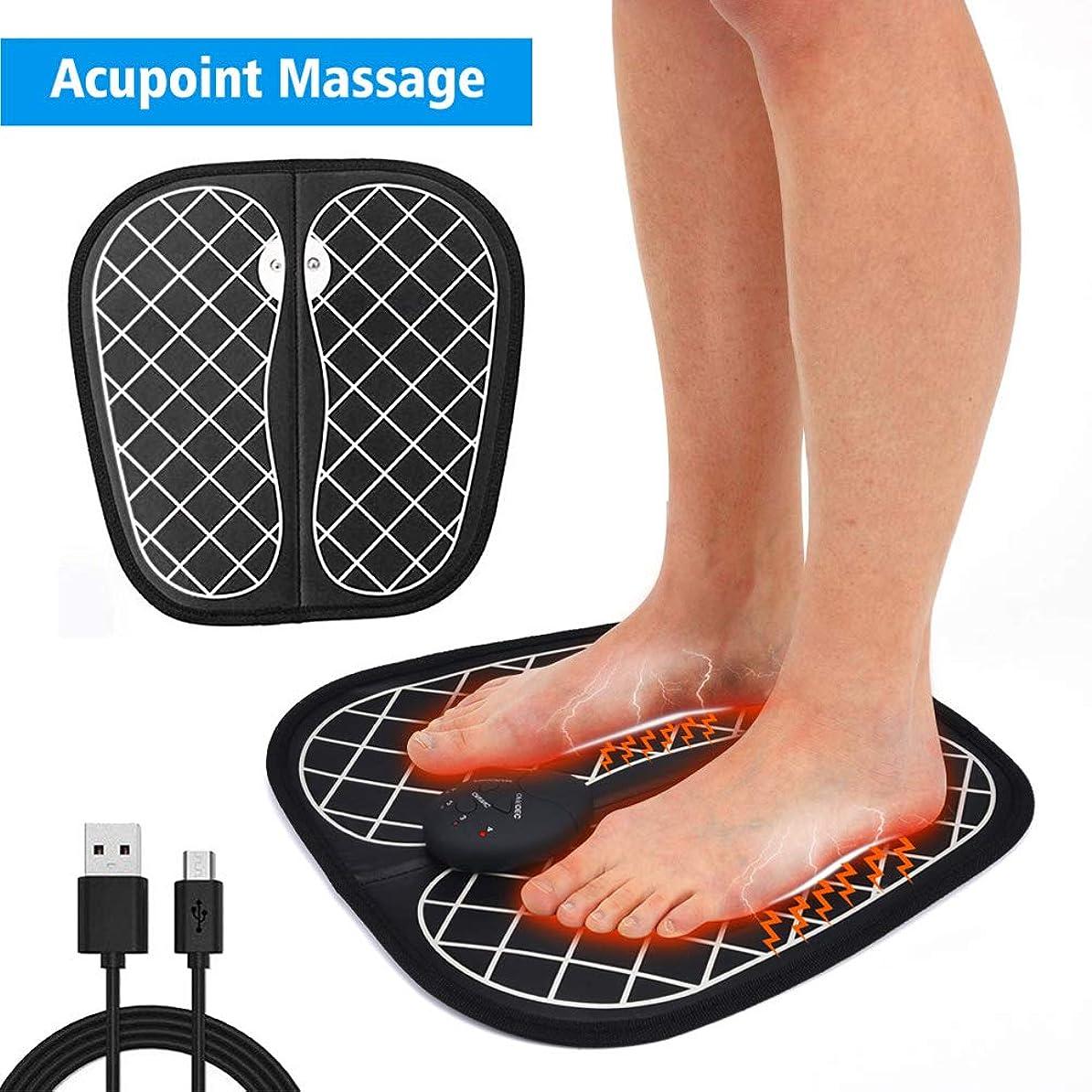 団結する覚醒検出器EMSフットマッサージャー、フットマッサージャー、ABSパッド、USB充電、リラクゼーション、血液循環の促進、足の疲労の緩和,A