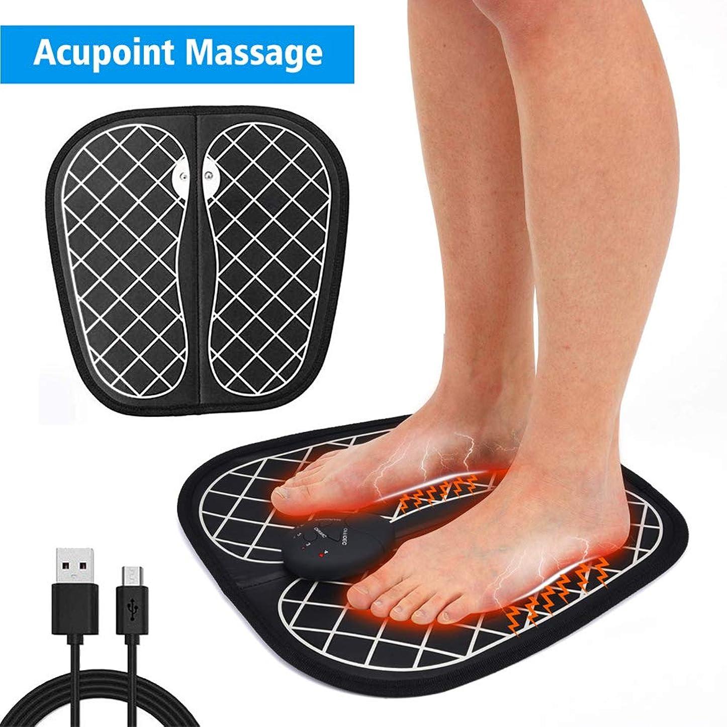 ブラシ逃れるジャンプするEMSフットマッサージャー、フットマッサージャー、ABSパッド、USB充電、リラクゼーション、血液循環の促進、足の疲労の緩和,A