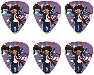Patriotic Donald Trump with Eagle American Flag Gun Novelty Guitar Picks Medium Gauge - Set of 6