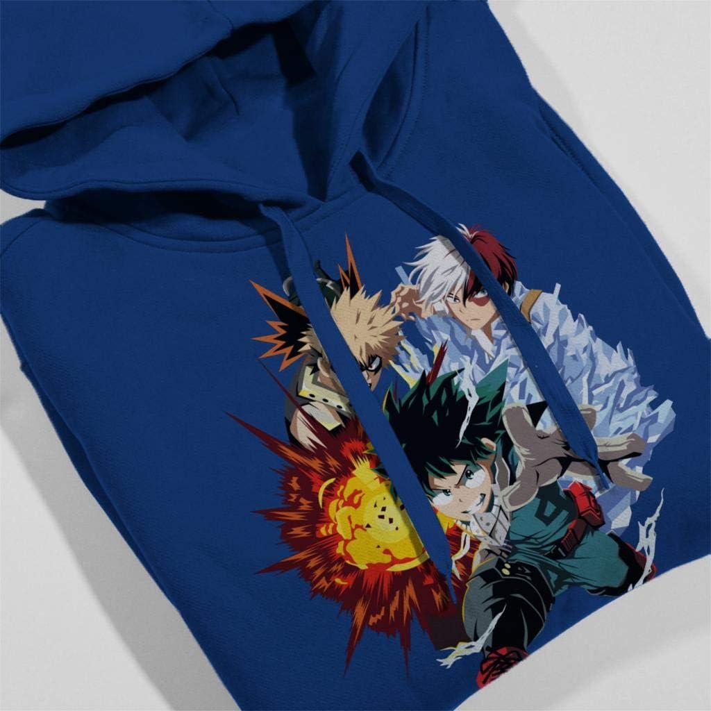 Cloud City 7 My Hero Academia Deku Bakugo Shoto Kids Hooded Sweatshirt