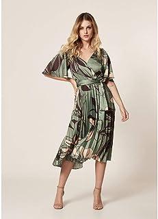Vestido Plissado Estampa Floral Green