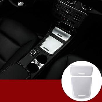 Cenicero YIWANG de fibra de carbono estilo ABS para caja 2 unidades para Benz CLA GLA A Class W117 W176 A180 2014-2017