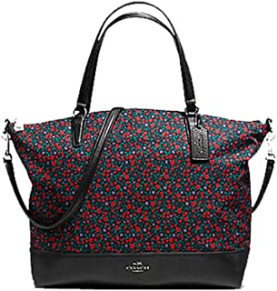 Ranch Floral Nylon and Leather Tote Purse - #F59434