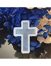 Moldes de silicona con forma de cruz para moldes de fundición y resina líquida para joyas de resina epoxi, collar, colgante, adorno, hacer molde bricolaje, hecho a mano, arcilla polimérica Medium 4#
