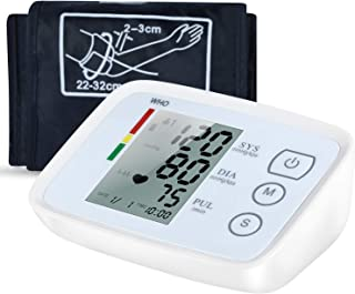 Blood Pressure Monitor, FDA Approved Upper Arm Blood Pressure Monitor Accurate Automatic BP Machine Heart Rate Meter Dual User& 99 Sets Memory with Large Display Screen for Home Use