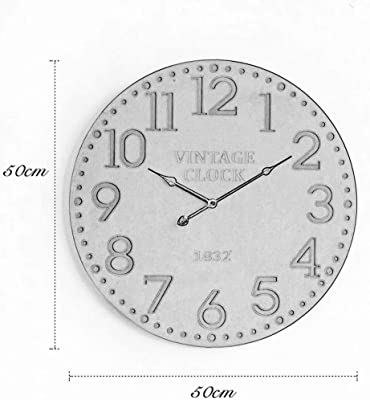 SMC wall clock Retro Creative Clock Living Room Minimalist Atmosphere Background Wall Decoration Wall Clock (